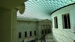 The British Museum London UK - stock footage