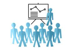 business analyst, team training, concept - stock photo