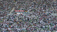 Mob Audience Supporters Community Fan Crowd World Cup Final Match Public Viewing Stock Footage
