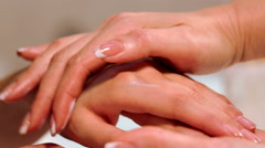 Procedure hands massage in the spa salon.Hand Care in the beauty salon. Stock Footage