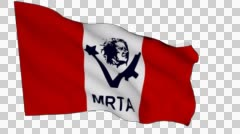 Stock Video Footage of Flag animation white alpha-Túpac Amaru Revolutionary Movement MRTA