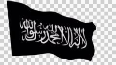 Flag animation white alpha-Islamic Movement of Uzbekistan Stock Footage