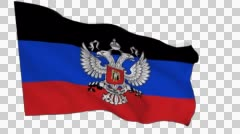Flag animation white alpha-Donetsk People's Republic Stock Footage