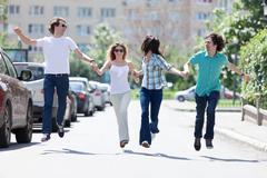 jump for joy! - stock photo