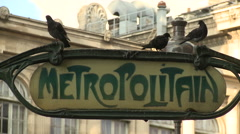 Metropolitan Metro sign Stock Footage