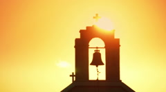 Church in sunset Stock Footage
