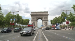 L'Arc de Triomphe - stock footage