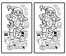 Santa Claus - Find the ten differences Stock Illustration