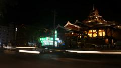 Night Phuket, road, time lapse - stock footage
