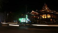 Night Phuket, road, time lapse Stock Footage