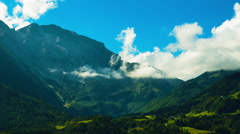 Time lapse of hilly countryside landscape in Austria Stock Footage