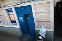 Login to post offices in russia Stock Photos