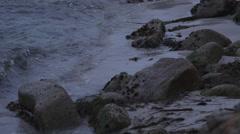 Waves Crashing Rocks at 240fps Stock Footage