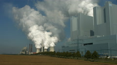 Lignite-fired power plant Grevenbroich-Neurath, Germany Stock Footage