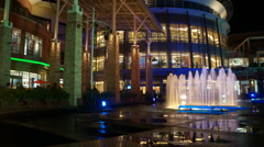 Phuket, Jungceylon inside, fountain, time lapse Stock Footage