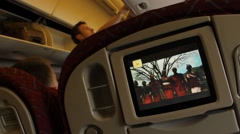 Kenya Airways Passenger View - stock footage