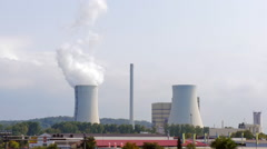 Thermal power plant in Germany Stock Footage