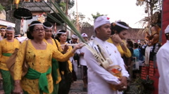 Traditional Culture Ceremony In Bali Stock Footage