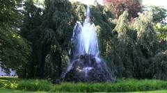 Ancient Fountain At Lichtentaler Alley In Baden-Baden Stock Footage