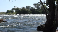 Victoria Falls Zambezi River Water Flow Stock Footage
