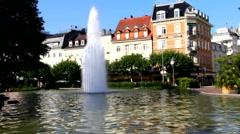 Augusta Square (Augusta Platz). Baden-Baden Stock Footage