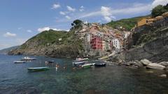 Town of Rio Maggiore, Cinque Terre, Italy Stock Footage