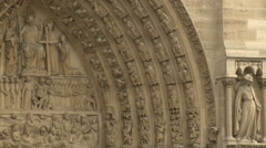 Carved Arch, Notre Dame Cathedral Stock Footage