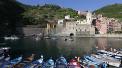 Italy, Liguria, Cinque Terre, Vernazza Stock Footage
