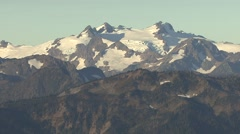Mountain Olympic National Park Fall Snow Capped - stock footage