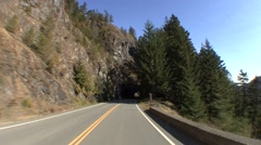 Recreation Olympic National Park Fall Driving Tunnel - stock footage