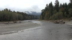 River & Stream Olympic National Park Fall Pacific Northwest Stock Footage