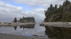 Ocean Olympic National Park Fall Pacific Northwest Stock Footage