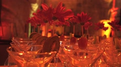Decorated glasses Stock Footage