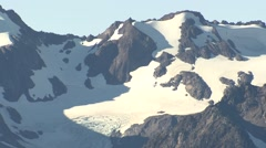 Mountain Olympic National Park Fall Zoom Out Tundra Snow-capped - stock footage