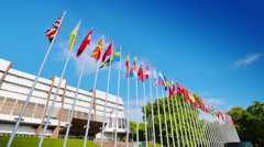 Council of Europe in Strasbourg, France Stock Footage