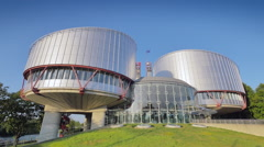 European Court of Human Rights in Strasbourg, France Stock Footage