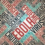 Ebola - Epidemic Concept on Grunge Word Collage. Stock Illustration