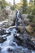 lower continental falls near breckenridge - stock photo