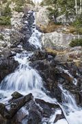 Middle Continental Falls near Breckenridge - stock photo