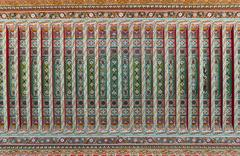 The wooden painting of ceiling at bahia palace in marrakesh Stock Photos