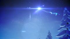 Snowman inside snow globe with magic german christmas greeting Stock Footage
