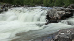 Threshold on a mountain river. Stock Footage