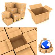 Stock Illustration of Packing Concepts - Set of 3D Illustrations.