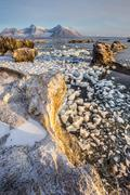 Arctic fjord landscape - stock photo