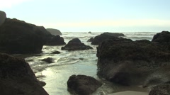 Ocean  Fall Tidal Area - stock footage