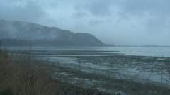 Ocean  Fall Estuary Stock Footage