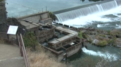 Land Use Umpqua River Fall River Dam Spillway Fish Passage Salmon Stock Footage