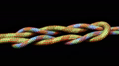 Tied the rope and pulled the knot Stock Footage