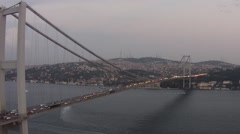 Bosporus Bridge Aerial View Stock Footage