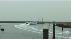 The fast ferry between Harlingen, Vlieland and Terschelling Stock Footage